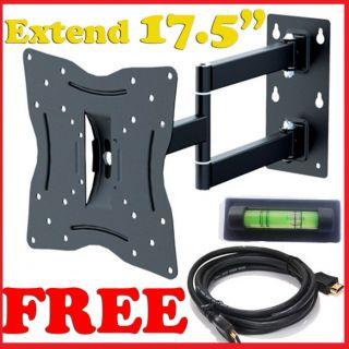Articulating LED LCD Tilt Swivel Arm TV Wall Mount 23 24 26 27 30 32