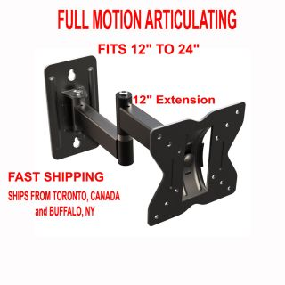 Universal Articulating Small TV Wall Mount Corner LCD LED Plasma Fits