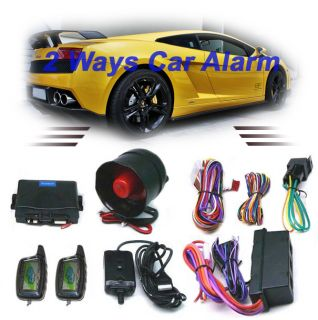 Way LCD Pagers Car Alarm System w Remote Engine Start