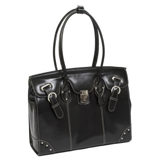 McKlein Leclaire Ladies 15 4 Leather Laptop Tote Bag w Series Black