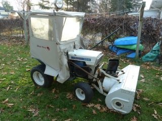 jacobsen garden lawn tractor with snow blower and wheel horse snow cab