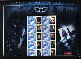 Australia Batman Dark Knight Heath Ledger Sheet