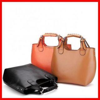 Real Genuine Leather Purse Vintage Hobo Shoulder Bag Handbag Tote