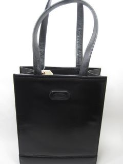 Leatherbay Womens London Leather Fashion Tote Bag Black One Size New
