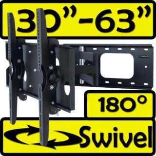 Single Swivel ARM TILT LCD LED TV WALL MOUNT BRACKET 30 42 37 63