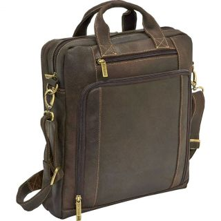 Le Donne Leather Vertical Distressed Leather Laptop Briefcase