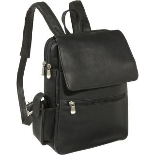 Le Donne Leather Womens iPad eReader Leather Backpack Black