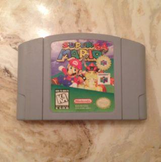 The Classic Mario 64 vintage N64 video game Super Mario 64 (Nintendo