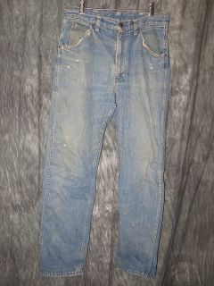Vintage 50s Montgomery Ward Cowboy Farm Work Jeans Faded 32