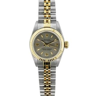 Rolex Oyster Perpetual Two Tone Ladies Watch