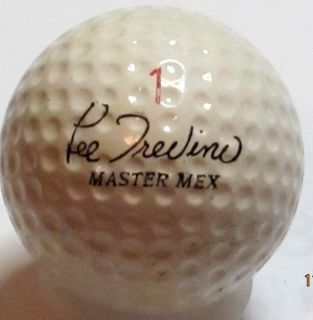 Signature Lee Trevino Master Mex John Letters UK 1 62 Logo Golf Ball