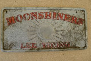 Lee Vining Moonshiners Car Club Plaque Original Not Restored or