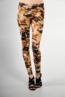 Army Military Army Camouflage Print Leggings Size Large