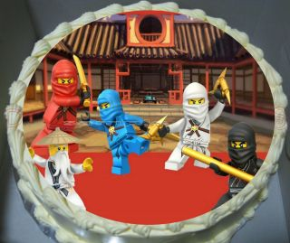LEGO ninjago Edible Cake Topper Image Birthday Party decorations theme