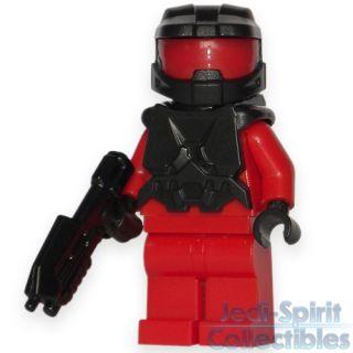 Lego HALO Custom *MASTER CHIEF* Black & Red Color Minifig   FREE USA