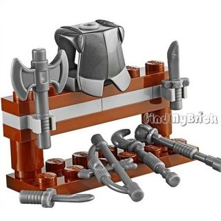 Lego Kingdoms Castle Armor Stand with Armor 6 Weapons New