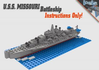 Custom Lego Battleship Instructions Only WWII Military Navy USS