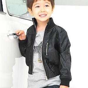 Urban Boys Girls Kids Leather Classic Jacket Jumper Coat Children