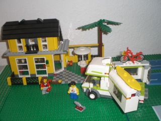 Lego Retired Creator 3in1 4996 1 2 3 Beach House 7639 Camper 2 mini