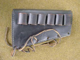 Tex Shoemaker Leather Buttstock Shotshell Holder