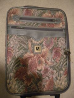 Leisure Luggage Piece Floral Travel with Wheels