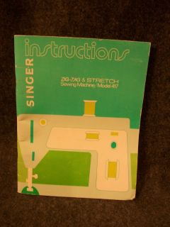 Singer Instructions Zig Zag Stretch Sewing Machine Model 417 Booklet