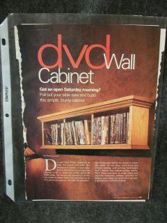 DVD Wall Cabinet Wood Pattern