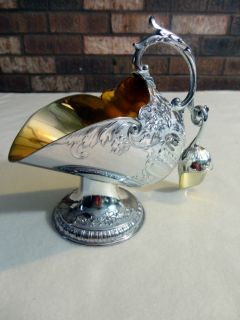 Leonard Silver Tipped Sugar Bowl with Scoop, Gold Color Interiors