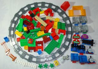 Lego Duplo Thomas The Tank Train Set Tracks Pieces Parts Bulk Blocks