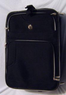 Leisure 21 Black Carry on Upright Rolling Wheeled Luggage Suitcase