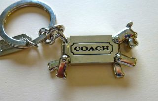 Ring/key fob dog  silver toned movalbe legs & head men/women beautiful