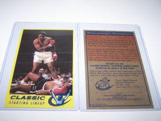 Rare Muhammad Ali Classic Sports Network Sportscard ESPN Boxing Leifer