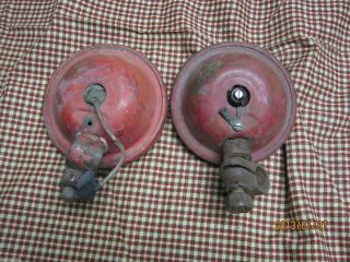 IHC Farmall Lights Pair Vintage 300 400 Super w Brackets