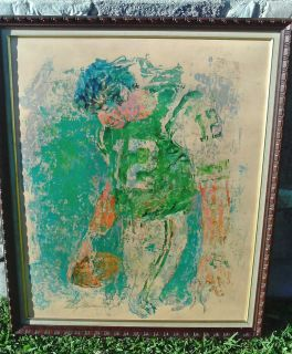 Leroy Neiman Joe Namath Super Bowl III Orig Felice Inc 1971 Signed