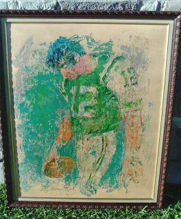 Leroy Neiman Joe Namath Super Bowl III Orig Felice Inc 1971 Signed