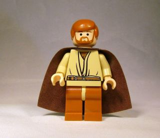 Lego Star Wars Obi Wan Kenobi Minifigure No Hood Version 7255 Cool
