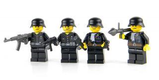 Cusom Lego German Soldier WWII Minifig Army Builder 4