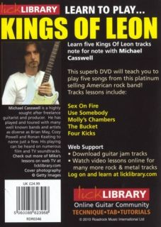 Lick Library Learn to Play Kings of Leon Guitar DVD