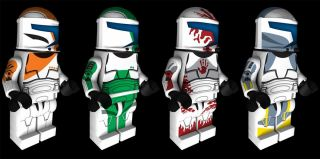 Lego Star Wars Clone Commando Delta Squad Custom Water Slide Decals x4