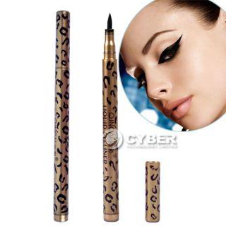 Leopard Design Waterproof Liquid Eyeliner Pen Black Eye Liner Pencil