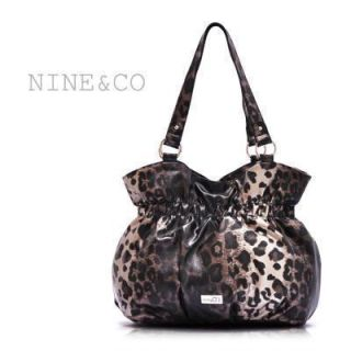 Nine Co Nine West Leopard Print Handbag Purse Tote Shoulder Bag