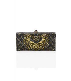 Judith Leiber Romanov Pattern Crystal Minaudiere Clutch Bag $3595