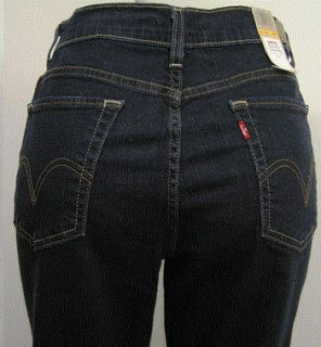 Levis 512 Perfectly Slimming Boot Cut Womens Petite Jeans 2P 2 P New