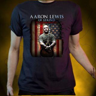 Limited RARE Vtg Aaron Lewis RARE Black T Shirt Size s M L XL 5XL