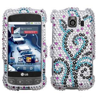 Frosty Rhinestone Rhinestone Bling Phone Case Cover LG Optimus S U V