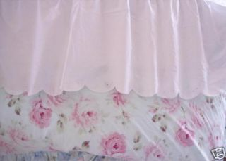 Shabby White Cottage Chic Eyelet Bedskirt Dust Ruffle