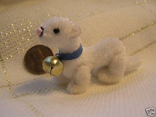 World of Miniature Dollhouse Mini Ferret White