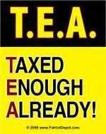 Taxed Enough Already Anti Obama Liberal Bumper Sticker T E A Patriot