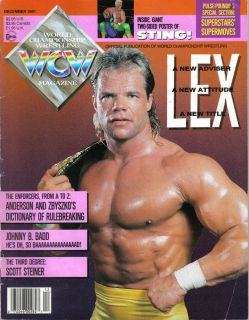 WCW Wrestling Magazine December 1991 Lex Luger Sting Lot of 1