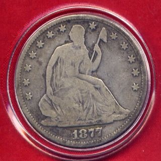 Liberty Seated Silver Half Dollar Rare Date Genuine US Mint Coin